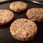 Foto di Hamburger vegan alla piastra
