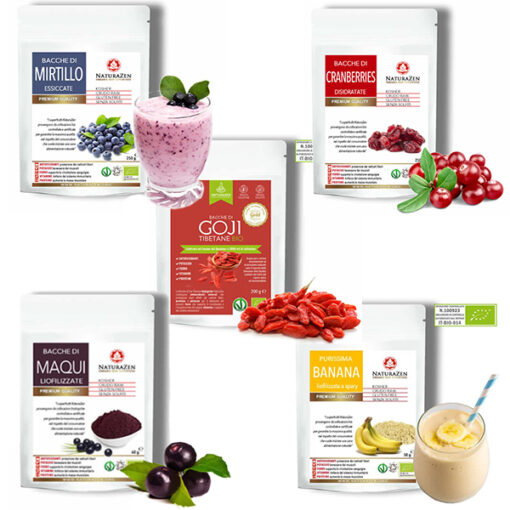 Bacche di Goji Cranberries Maqui Banana Mirtillo 510x510