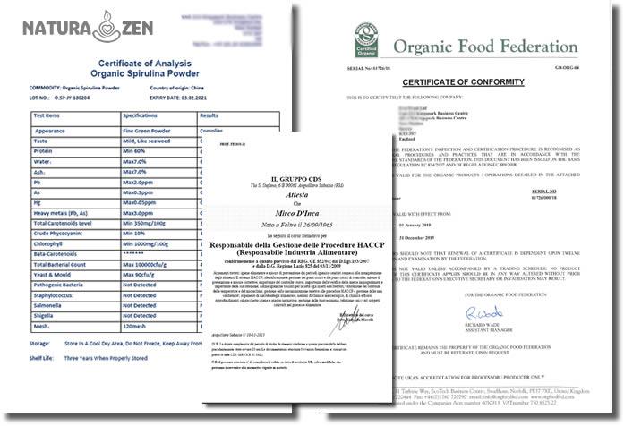Certificazione HACCP e Analisi Spirulina