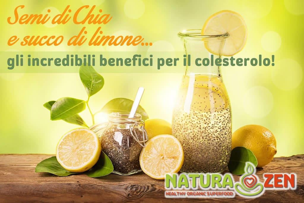 Foto di bevanda ottenuta con semi di chia e succo di limone bilogico
