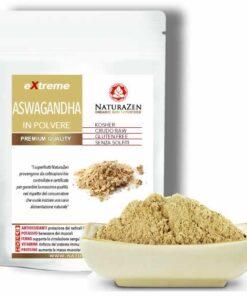 foto della busta da 125 grammi di aswagandha in polvere naturazen