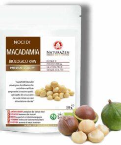 busta 250g Noci Macadamia raw bio naturazen 247x296