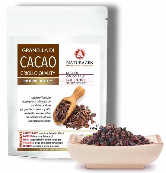 Cacao in granella e sciroppo di Yacon 200g