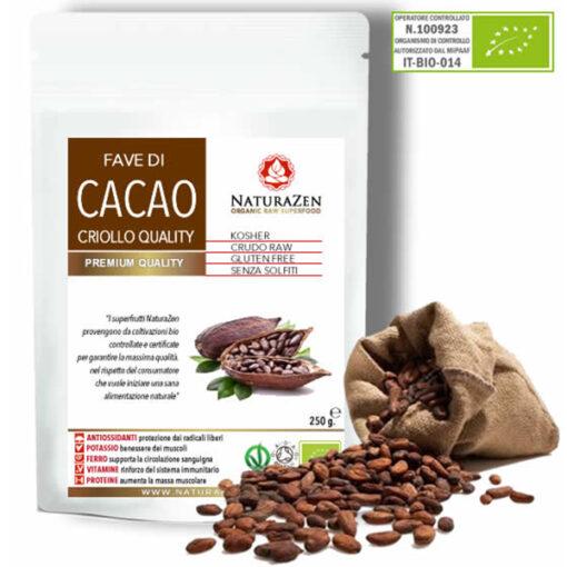 busta 250g cacao criollo in fave bio naturazen 1 510x510