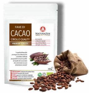 busta 250g cacao criollo in fave raw bio naturazen 287x300