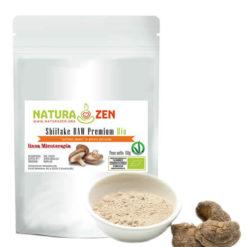 busta 60g Shiitake polvere biologica raw naturazen 247x247