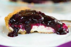 Torta cheescake ai frutti di bosco