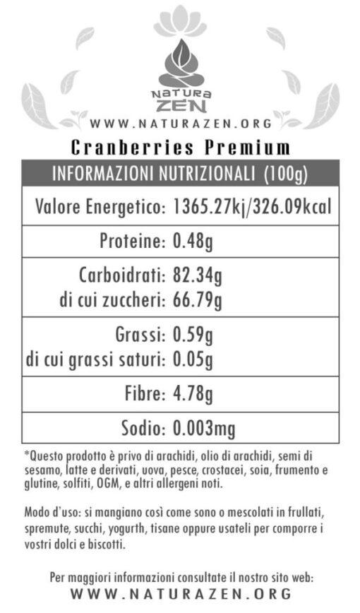 cranberries Nutritional Info EverTrust 510x868