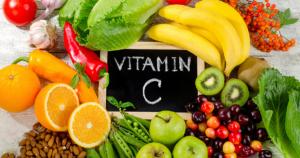 Foto con prodotti a base di vitamina C