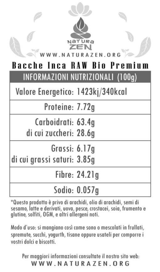 inca berries Nutritional Info EverTrust 510x868
